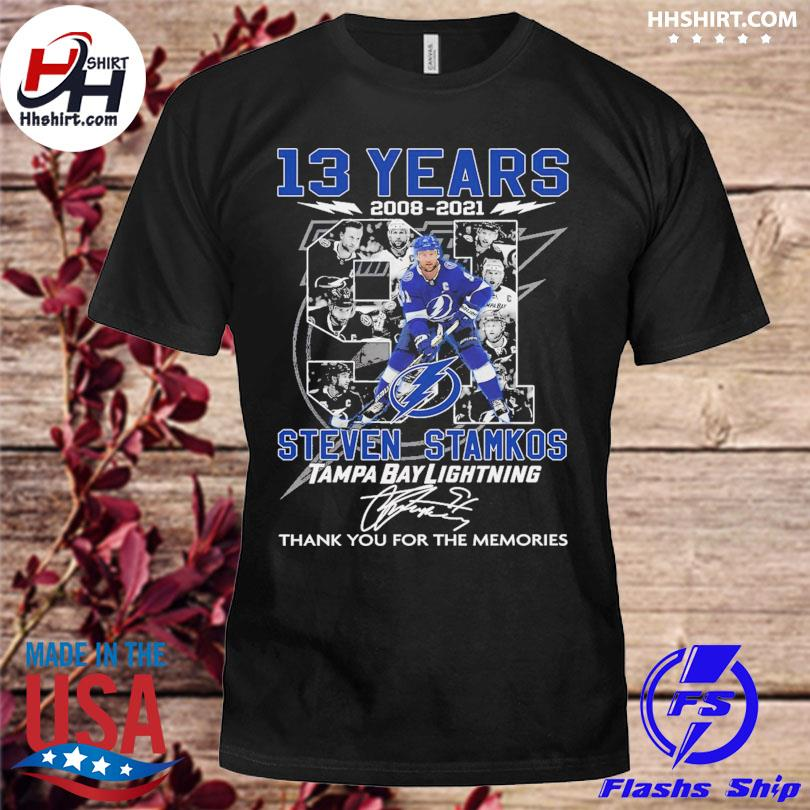 13 years 2008 2021 steven Stamkos Tampa Bay Lightning thank you for the memories signatures shirt