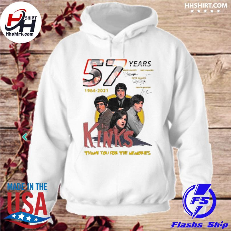 57 years 1964 2021 the kinks thank you for the memories signatures hoodie