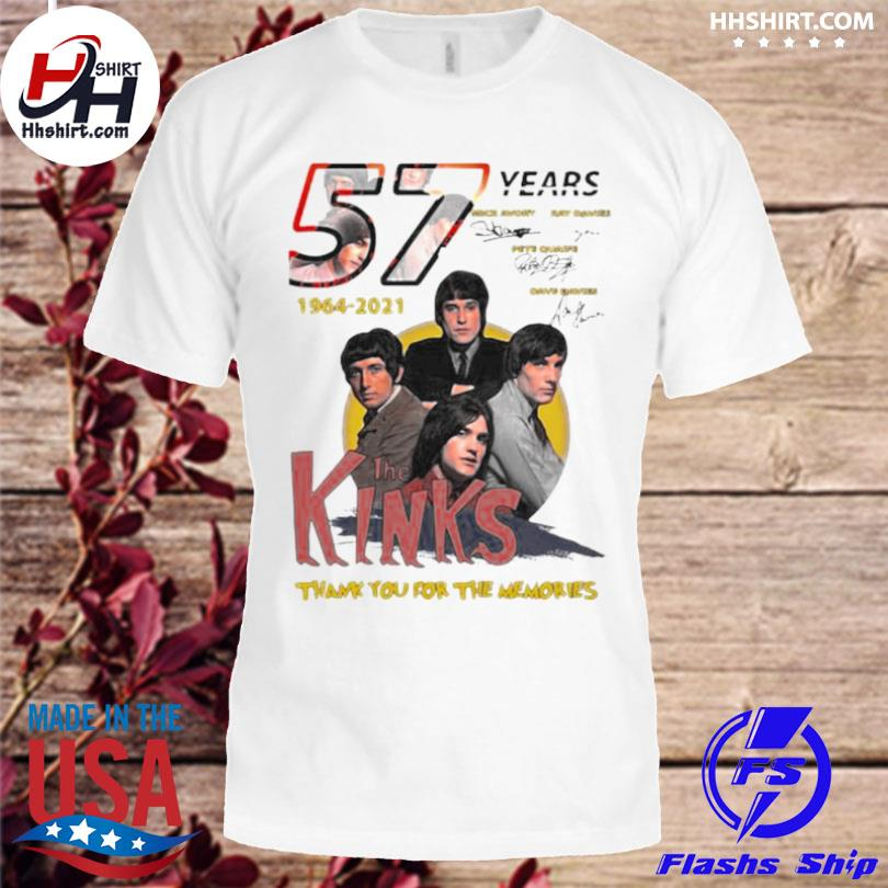 57 years 1964 2021 the kinks thank you for the memories signatures shirt