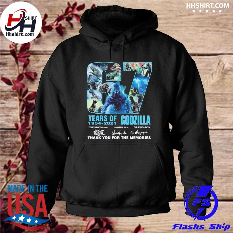 67 years of Godzilla thank you for the memories signatures hoodie