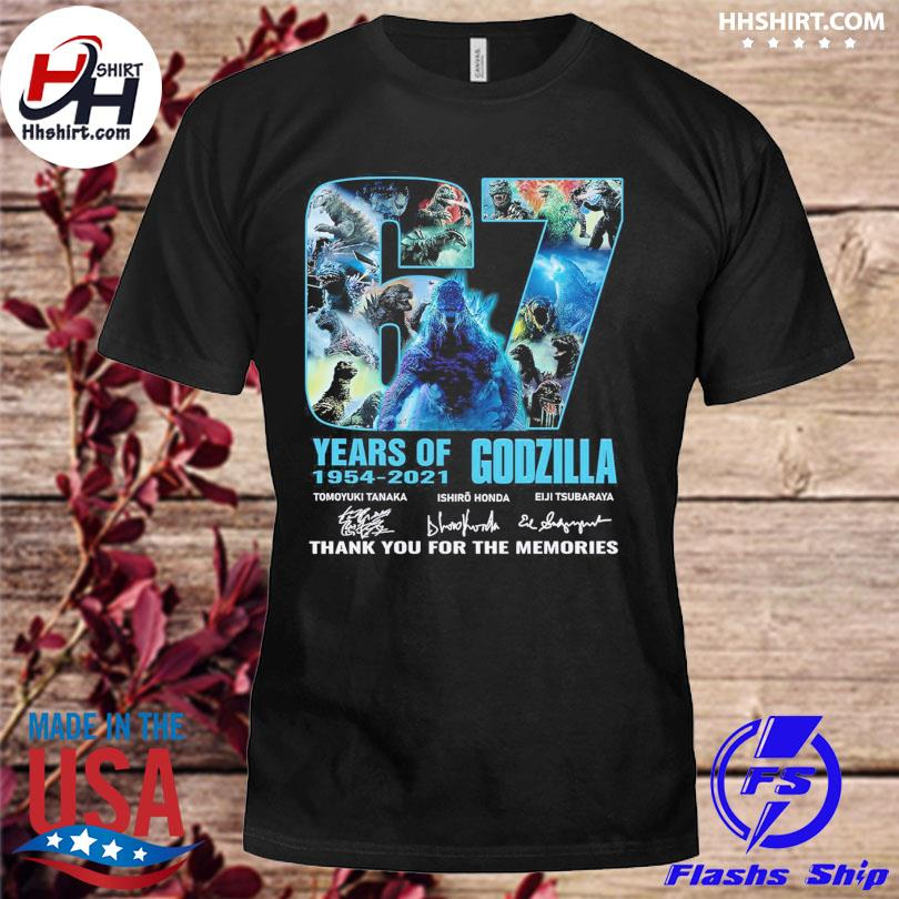 67 years of Godzilla thank you for the memories signatures shirt