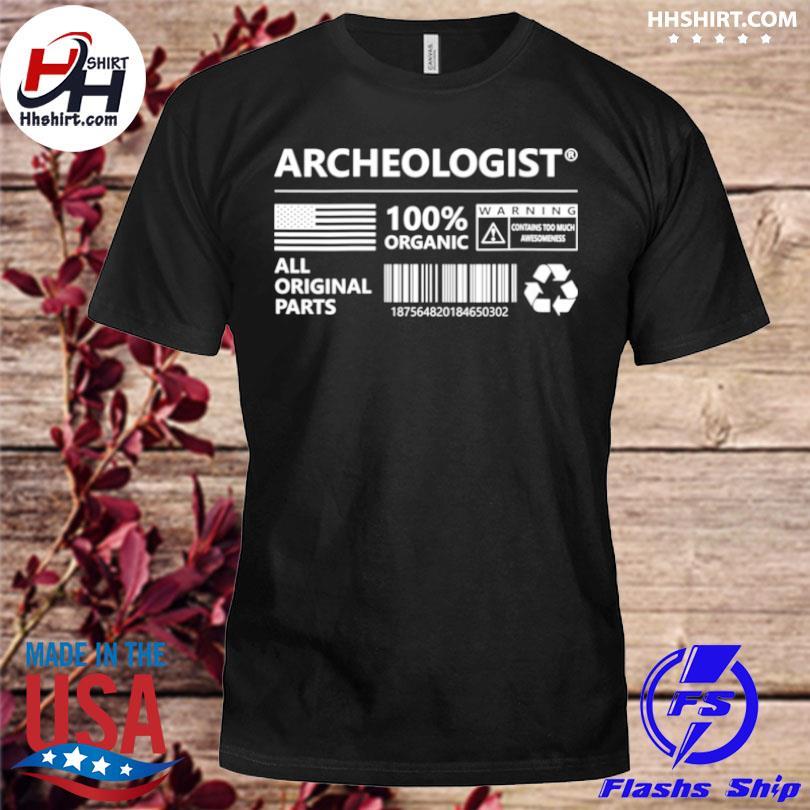 Archeologist marking archeology shirt
