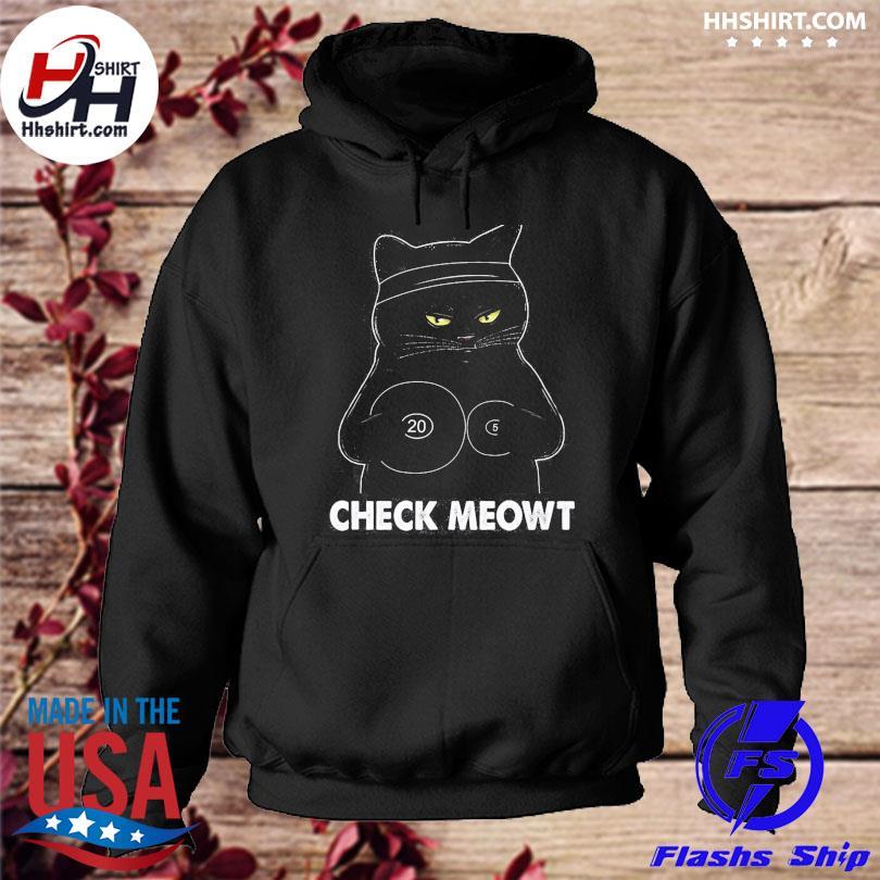Black Cat check meowt hoodie
