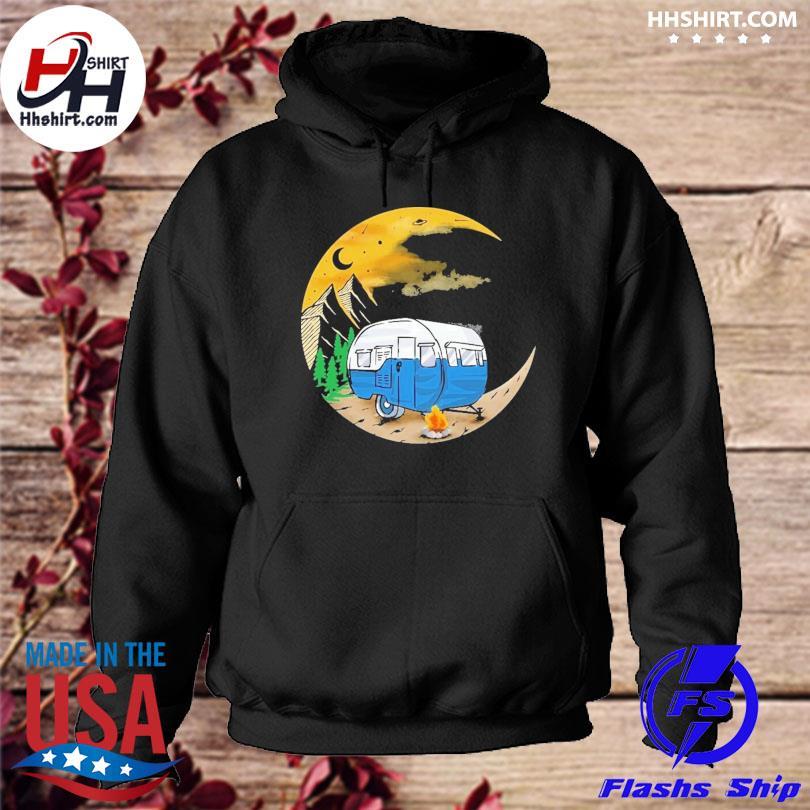 Camping moon hoodie
