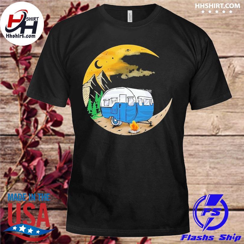 Camping moon shirt