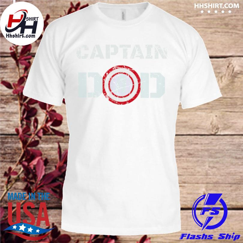 Dad birthday captain dad superhero shirt