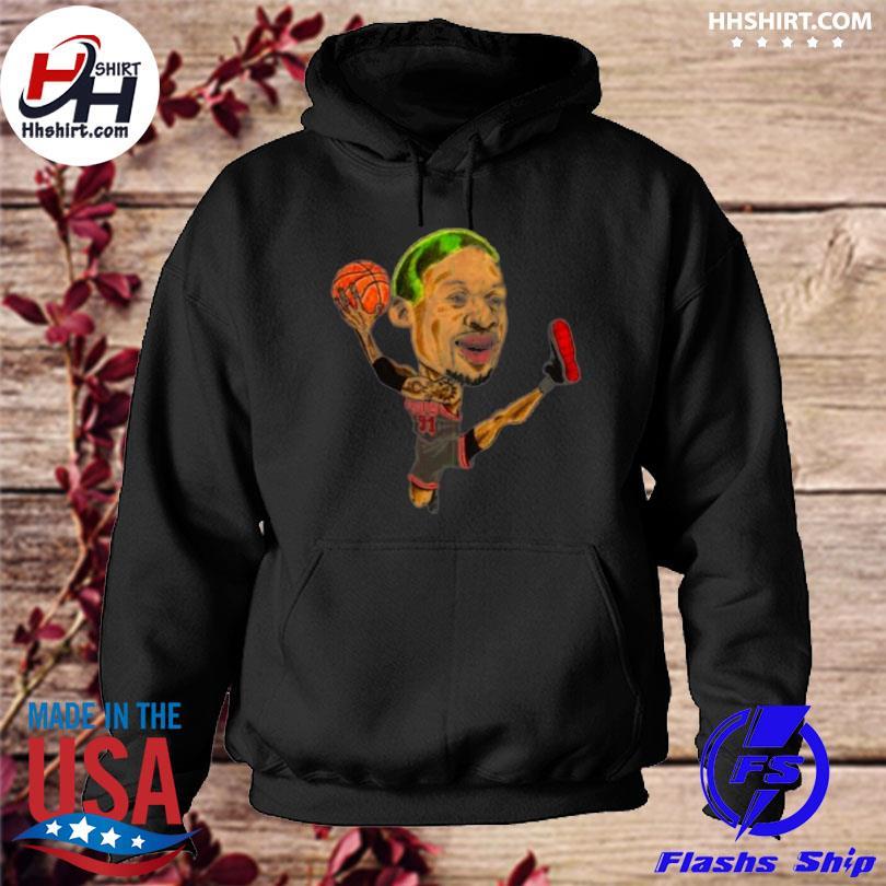 Dennis rodman caricature hoodie