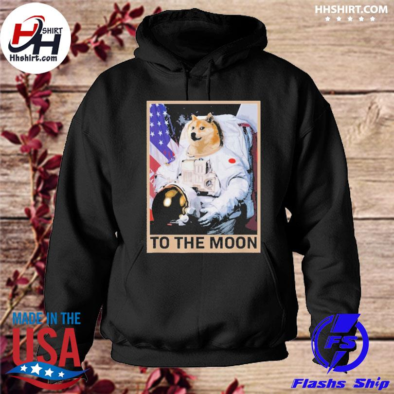 Dogecoin astronaut to the moon blockchain hoodie
