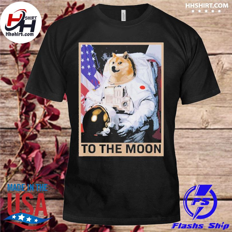 Dogecoin astronaut to the moon blockchain shirt
