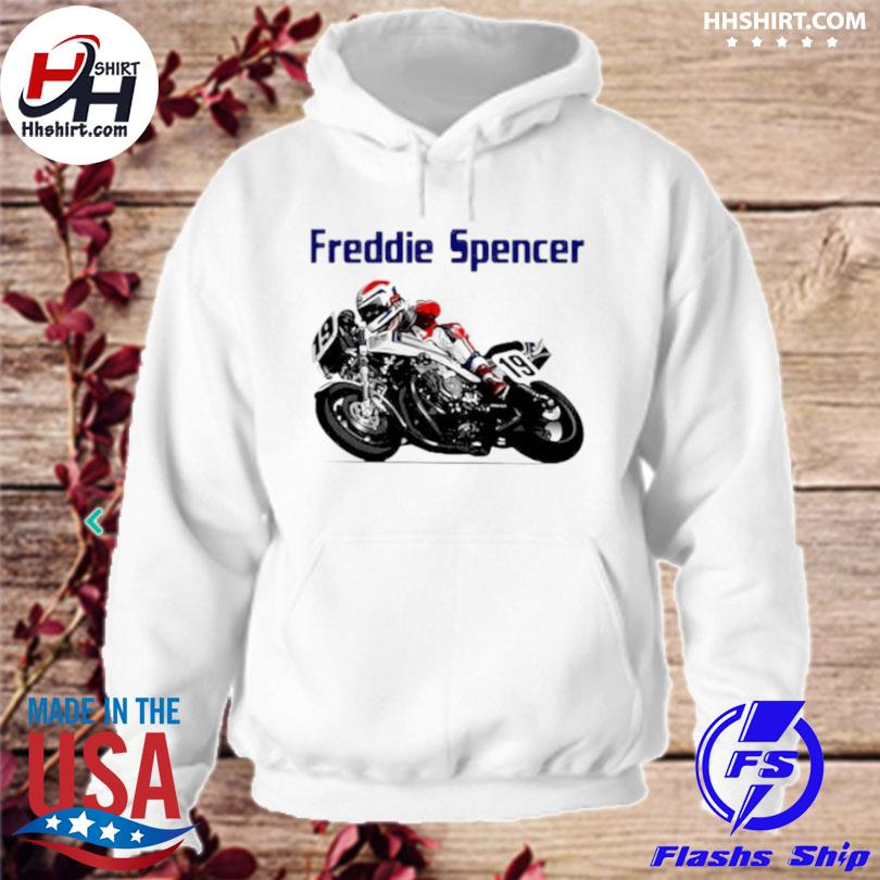 Freddie spencer world champion motorcycle hoodie