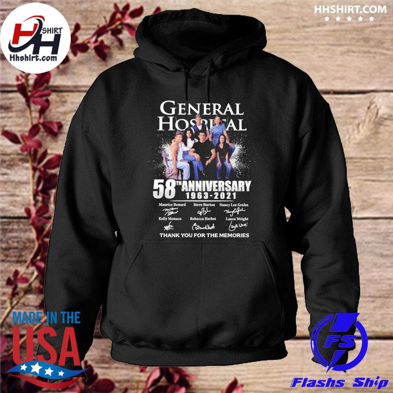 General Hospital 58th anniversary thank you for the memories signatures hoodie