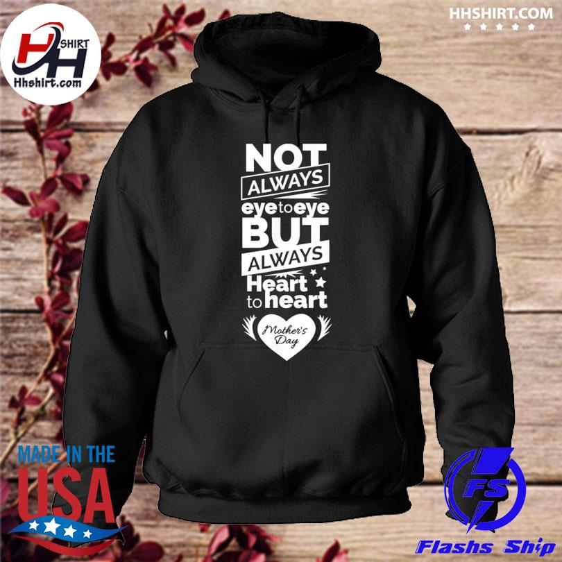 Heart to heart mom mothers day gift present hoodie