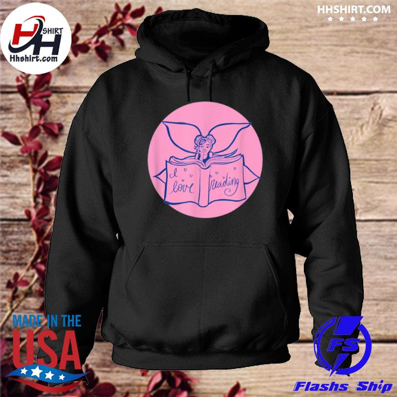I love reading fairy art hoodie