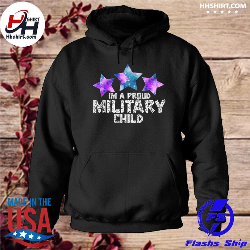 I'm a military kid month of the military child army soldier hoodie