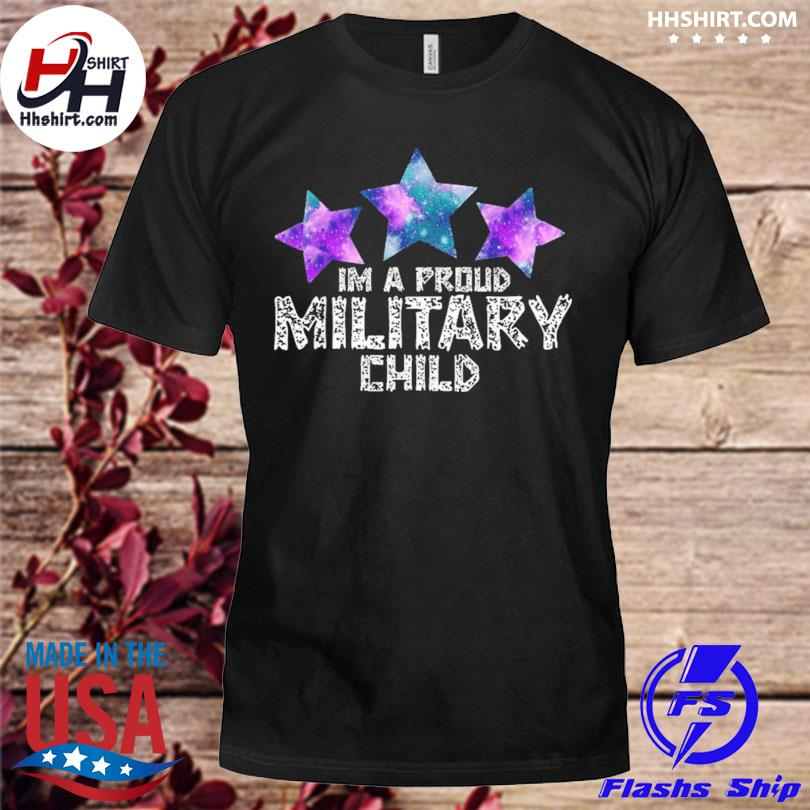 I'm a military kid month of the military child army soldier shirt