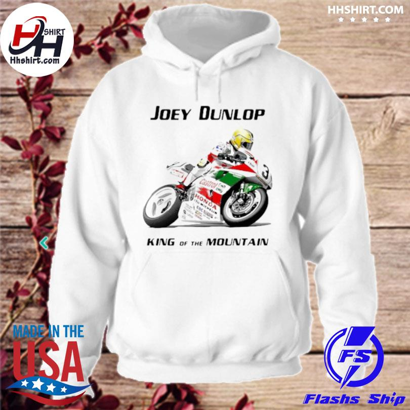 Joey dunlop king of the mountain world champion motorcycle hoodie