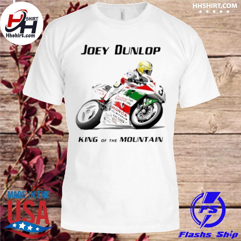 Joey dunlop king of the mountain world champion motorcycle shirt