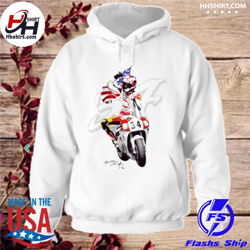 Kevin schwantz the wheelie king of the mountain signature hoodie