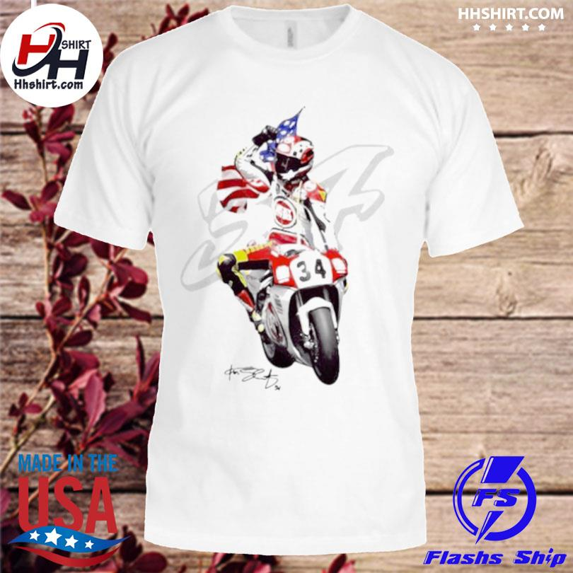 Kevin schwantz the wheelie king of the mountain signature shirt
