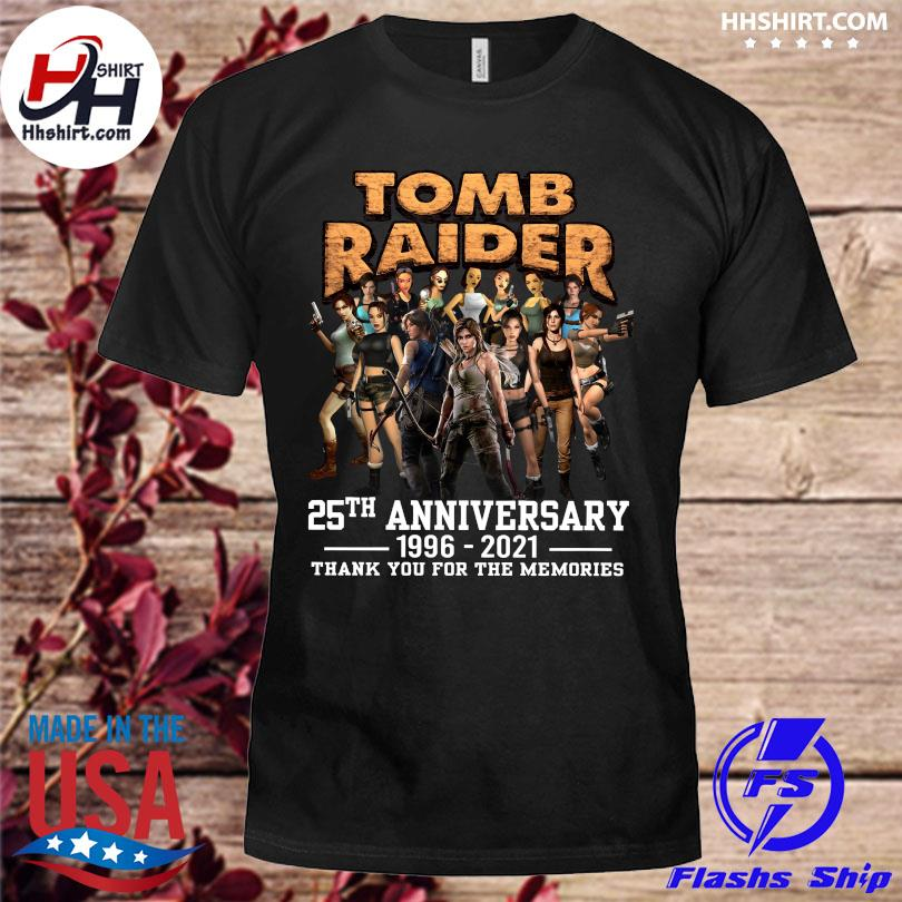 Official Tomb Raider 25th anniversary 1996 2021 thank you for the memories shirt