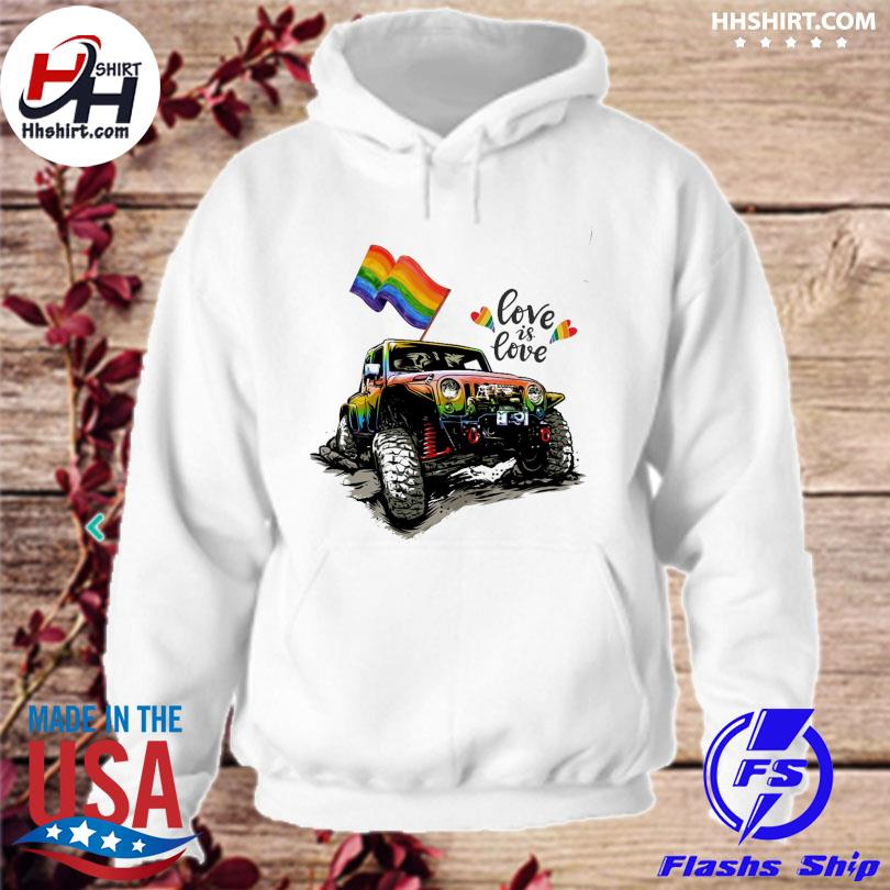LGBT Jeep love is love hoodie
