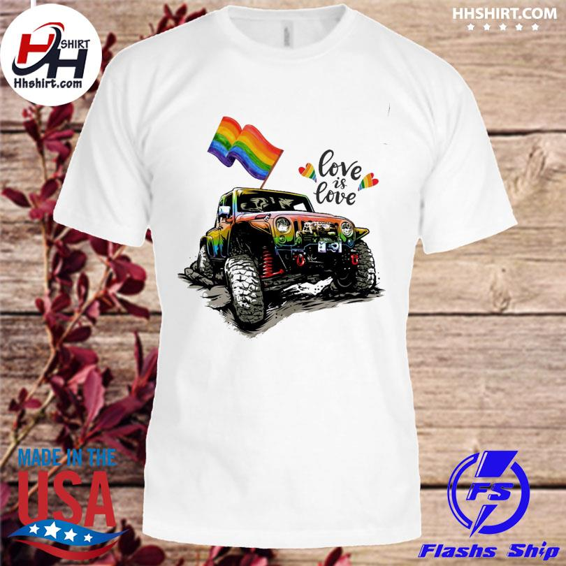 LGBT Jeep love is love shirt