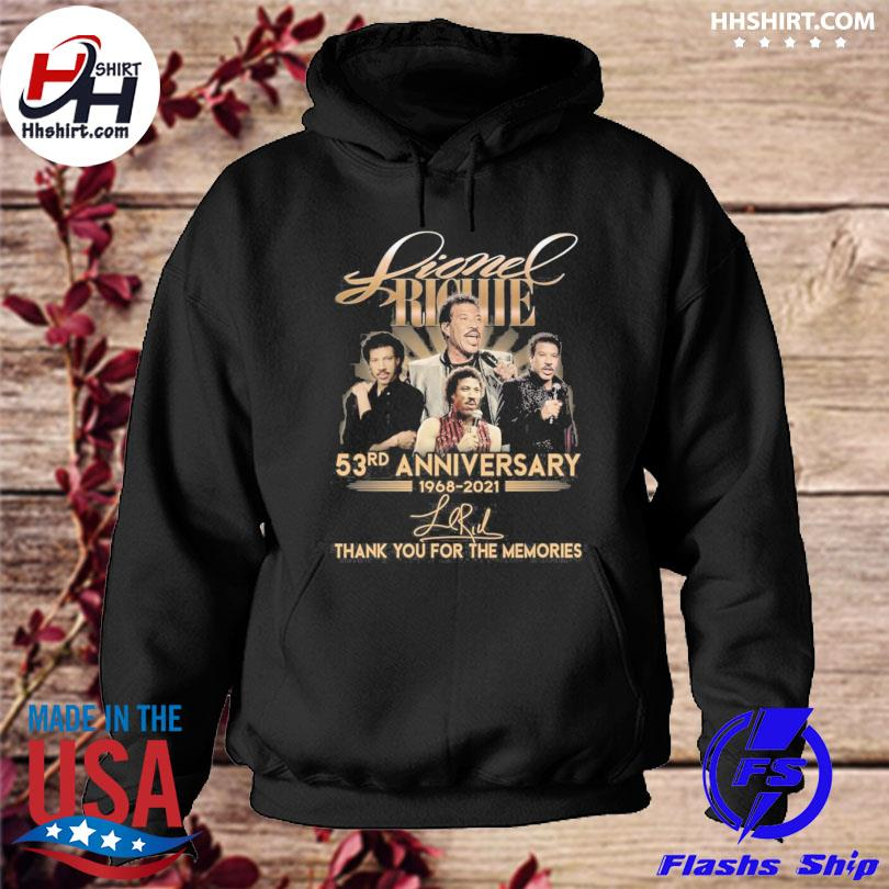 Lionel Richie 53rd anniversary thank you for the memories signatures hoodie