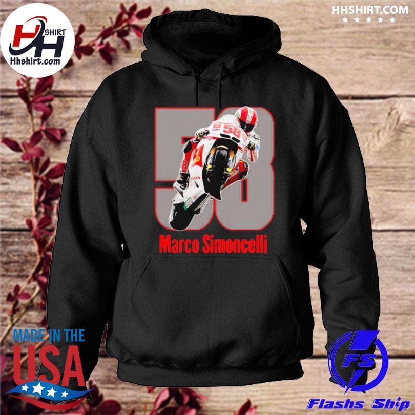 Marco simoncelli mountain motorcycle hoodie