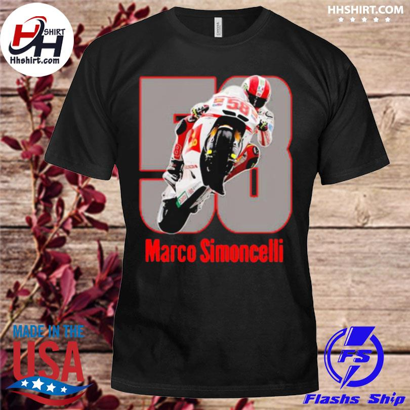 Marco simoncelli mountain motorcycle shirt