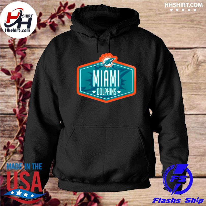Miami dolphins new era 2021 nfl draft big and tall hook hoodie