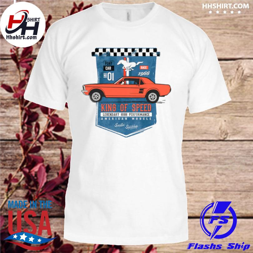 Mustang king of speed legendary high performance American muscle shirt