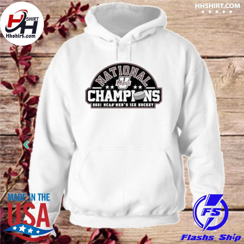National champions 2021 umass minutemen ncaa men's ice hockey hoodie