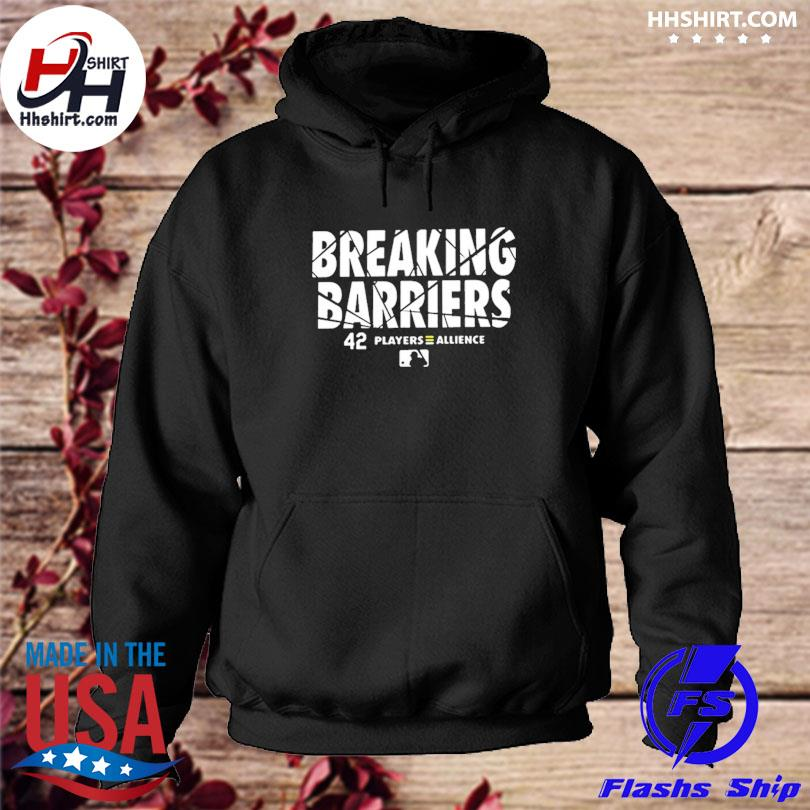Official breaking barriers 42 players alliance mlb hoodie