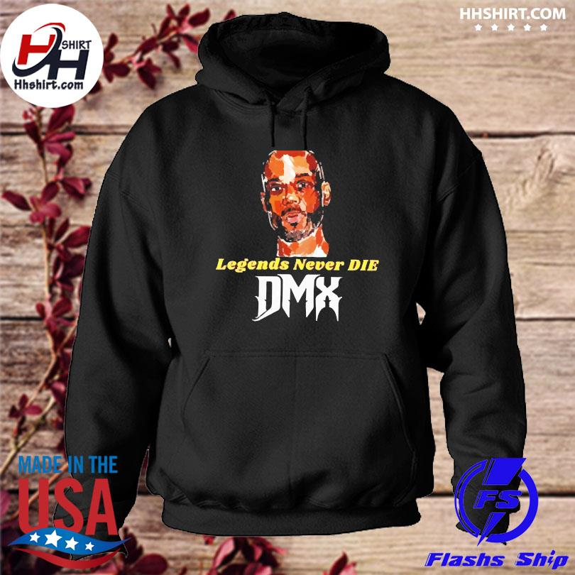 Official Dmx rapper legends never die dmx hoodie