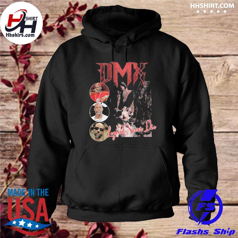 Official Dmx rapper unisex legend never die hoodie