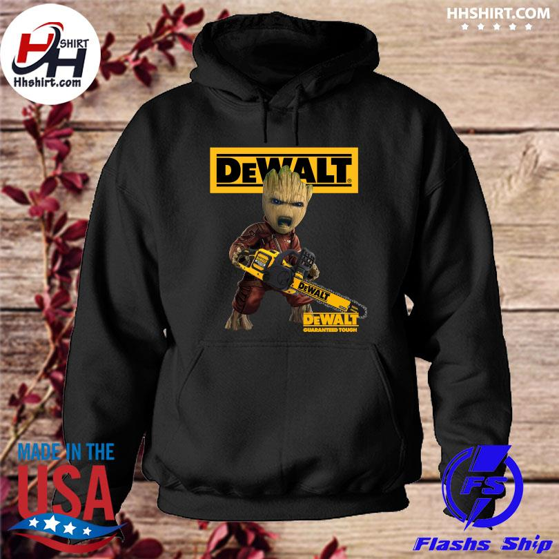 Official Groot with logo dewalt shirt. hoodie