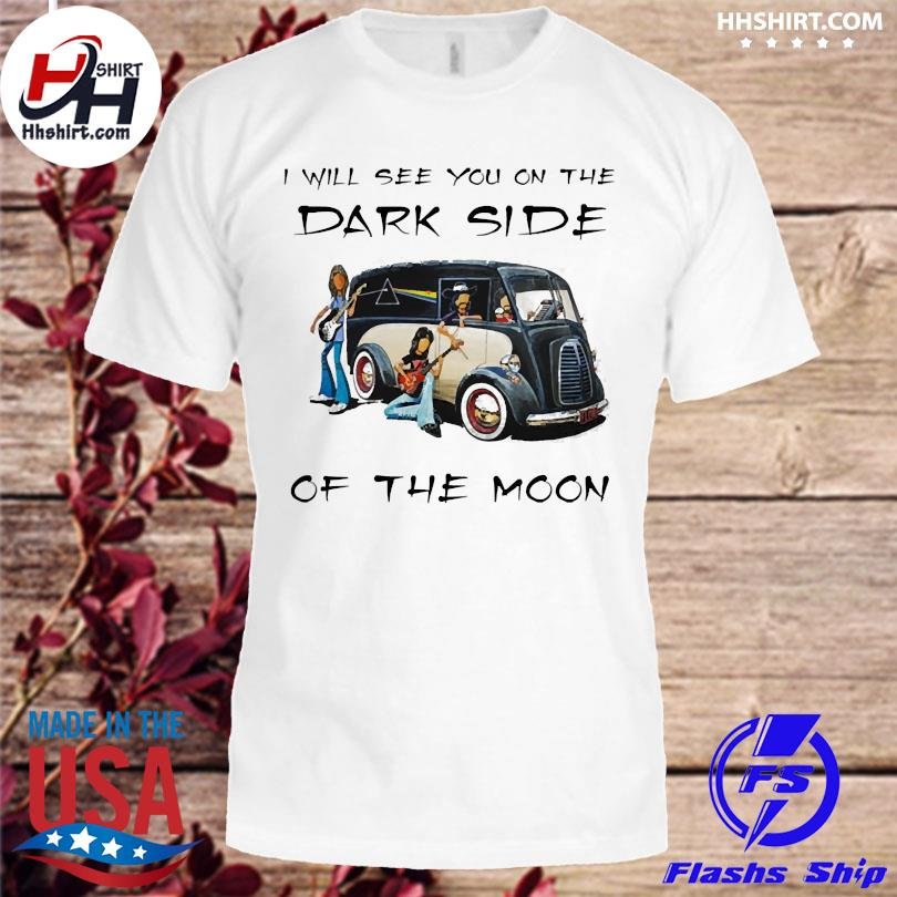 Official Pink floyd I will see you on the dark side of the moon shirt