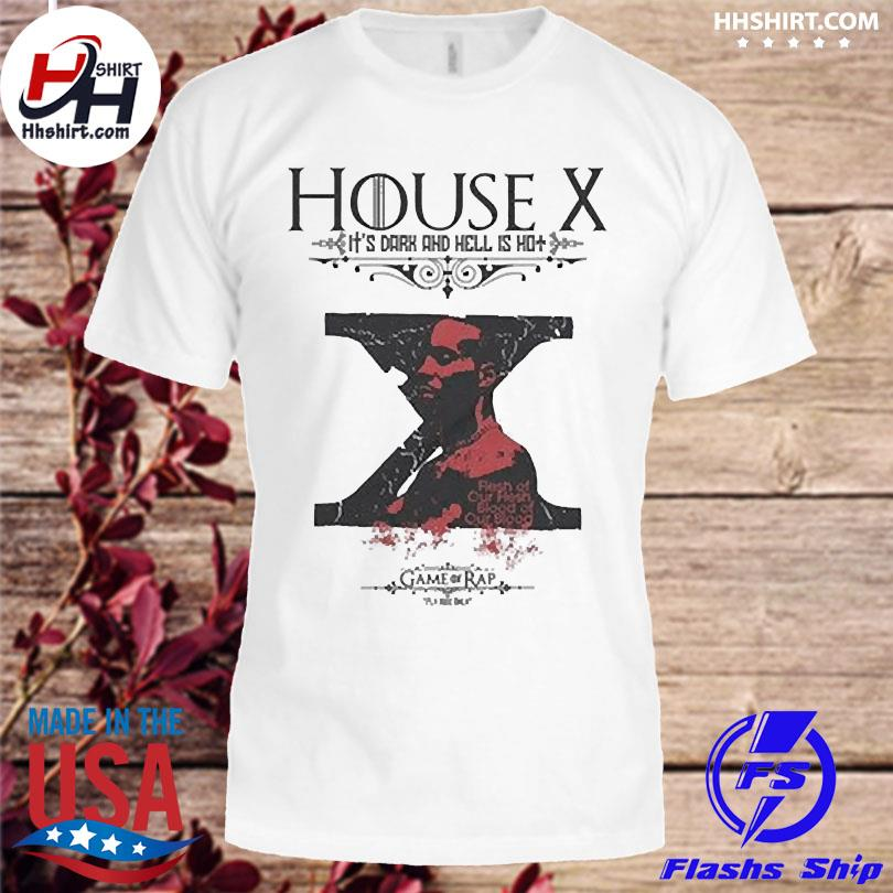 Official Rip dmx house x it's dark and hell is hot shirt