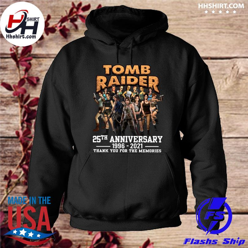 Official Tomb Raider 25th anniversary 1996 2021 thank you for the memories hoodie