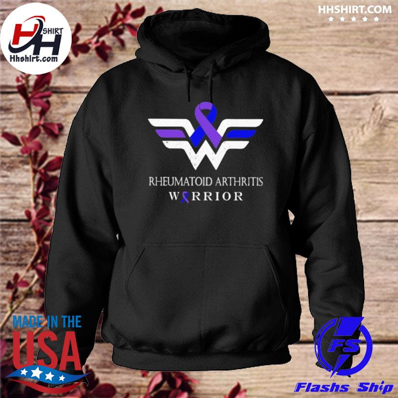 Rheumatoid arthritis warrior wonder woman logo hoodie