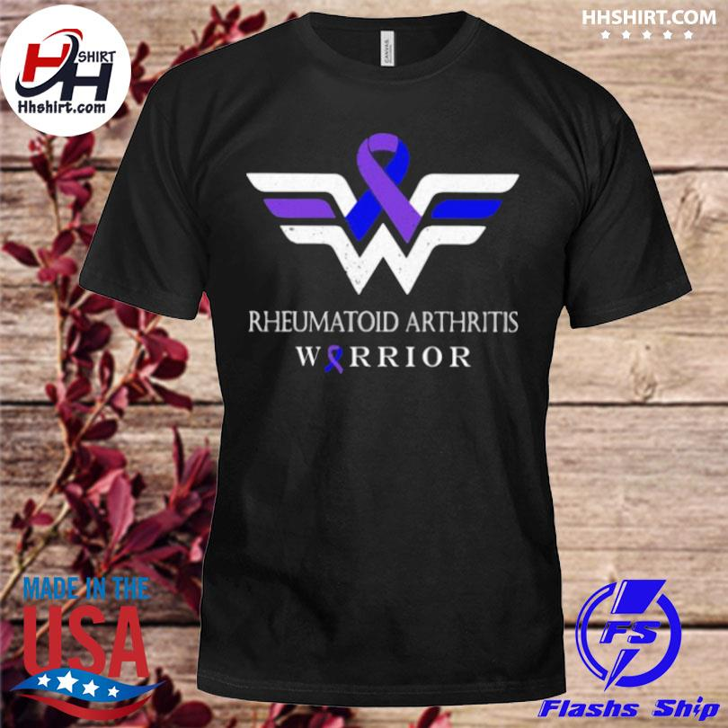 Rheumatoid arthritis warrior wonder woman logo shirt