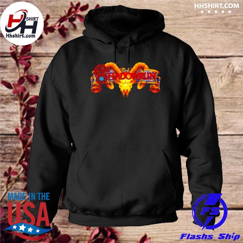 Shadowrun dragon skull logo hoodie