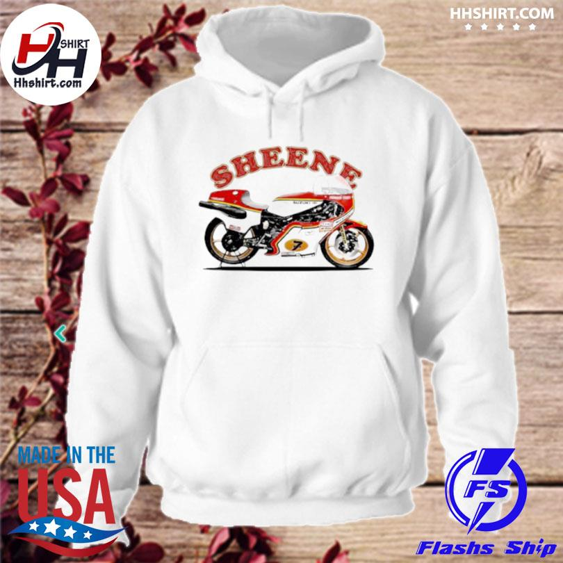 Sheene king of the mountain motorcycle hoodie
