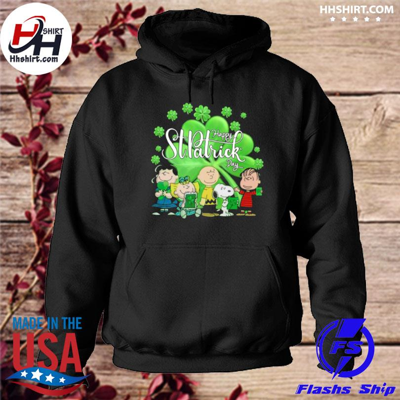 Snoopy and the Peanuts happy st patrick's day 2021 hoodie