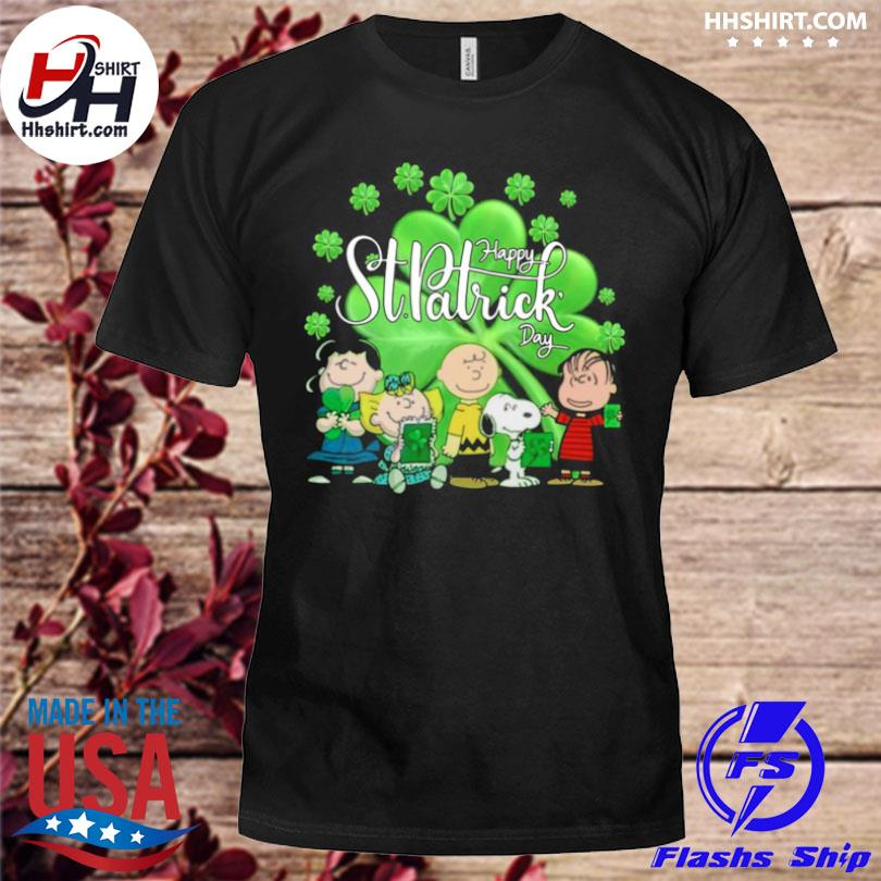 Snoopy and the Peanuts happy st patrick's day 2021 shirt