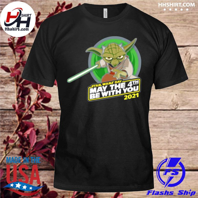 Star War Master Yoda With Star Wars Day May The 4th Be With You 2021 Shirt Hoodie Longsleeve Tee Sweater