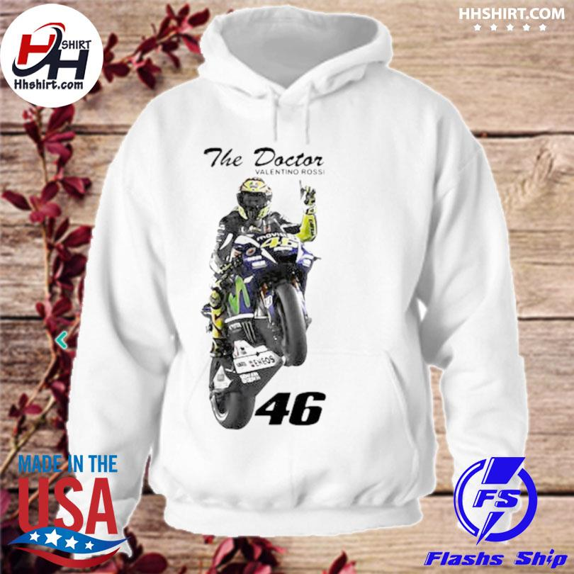 The doctor valentino rossi rossi 46 hoodie