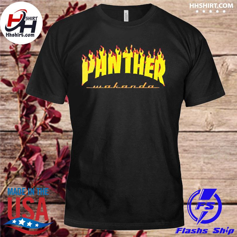 Thrasher black panther wakanda shirt