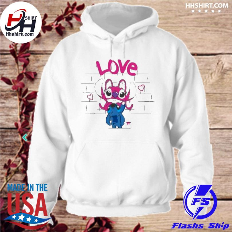 Titch and pink stitch love hoodie