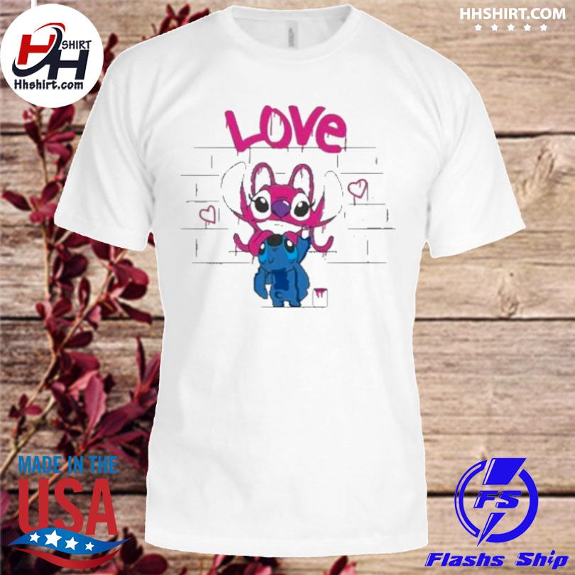 Titch and pink stitch love shirt